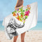 Heart of Flowers and Elephant Microfiber Beach Towel