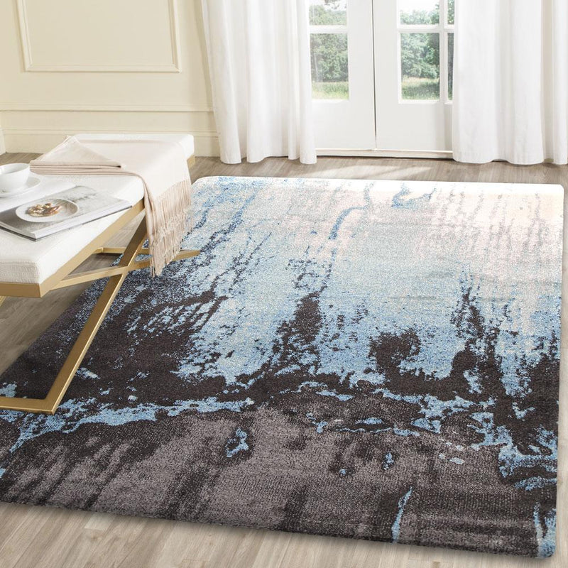 Matisse Blue Abstract Rug