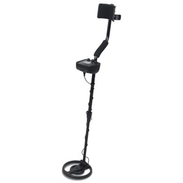 Metal Detector LED Screen With Headphones Black