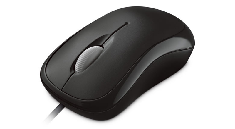 Microsoft Wired Basic Usb Optical Mouse (Black)