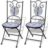 Mosaic Bistro Chair - Blue / White (Set of 2)
