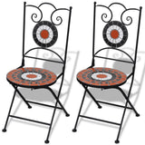 Mosaic Bistro Chair (Terracotta/White) Set of 2