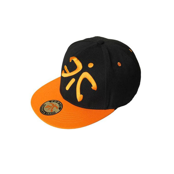 Fnatic Flat Cap With Logo - Black