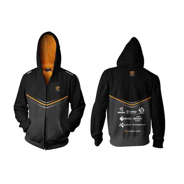 Fnatic Black XL Player Zipped Hoodie