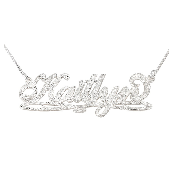 Bianca Line Sparkling Name Necklace