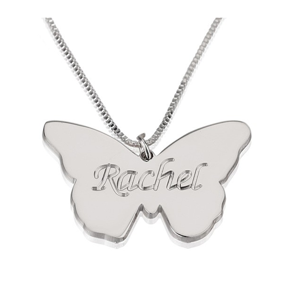 Butterfly Name Pendant Necklace