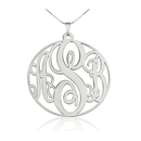 Circle Monogram Necklace