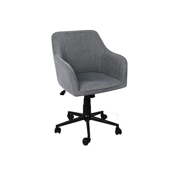 Office Chair Fabric Computer Gaming Executive Adjustable Seat Grey