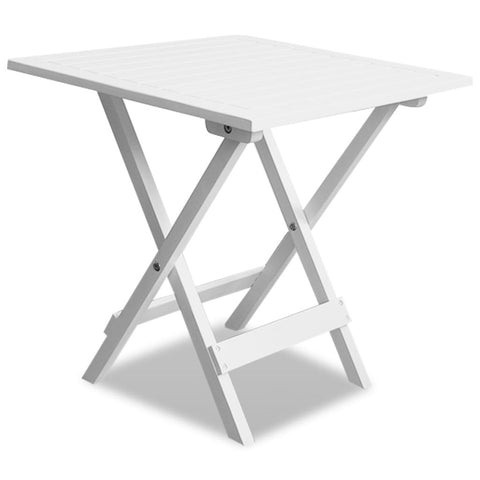 Outdoor Coffee / Side Table Acacia Wood - White 41436