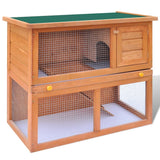 Outdoor Rabbit Hutch with 1 Door