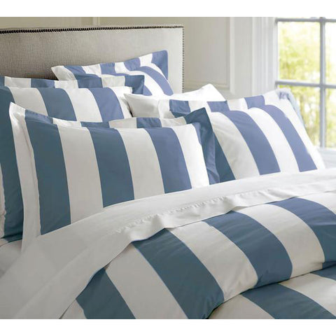 OXFORD STRIPE QUILT COVER SET – QUEEN Charcoal (Copy)
