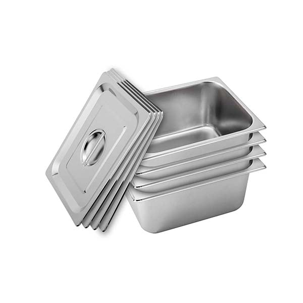 Soga 4X Gastronorm Gn Pan Full Size 15Cm Deep Stainlessteel W Lid