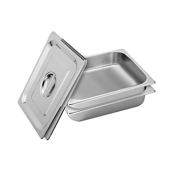 Soga 2X Gastronorm Full Size Gn Pan Deep Stainless Steel Tray With Lid