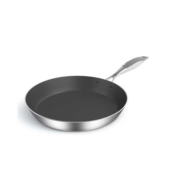 Soga Stainless Steel Fry Pan 22Cm Induction Frypan Non Stick Interior
