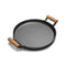Soga 35Cm Cast Iron Fryingpan Skillet Fry Platter Wooden Handle No Lid