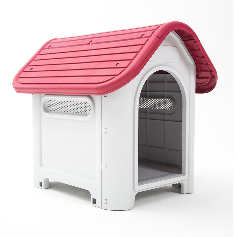 Plastic Dog Kennel LUNA M - PINK 75 x 60 x 66cm