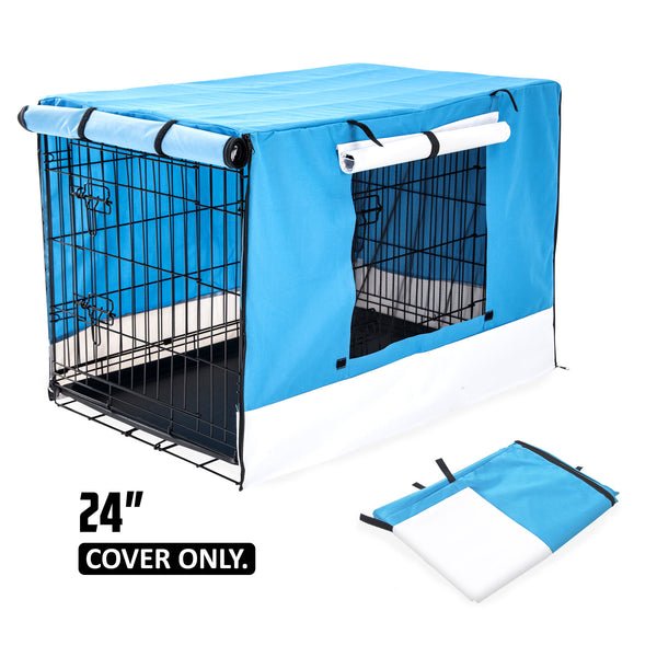 "24"" Cover for Wire Dog Cage - BLUE"
