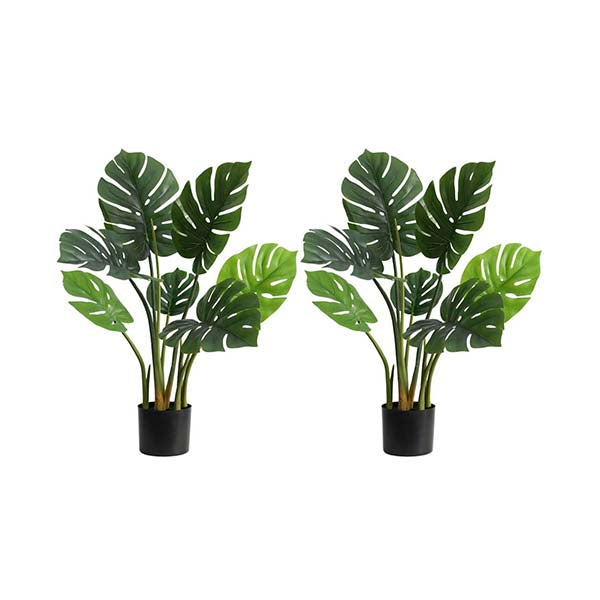 Soga 2X 80Cm Artificial Indoor Potted Turtle Back Tree Flower Pot
