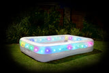 Pool With Led Lights 262X175X51Cm Aqua Party