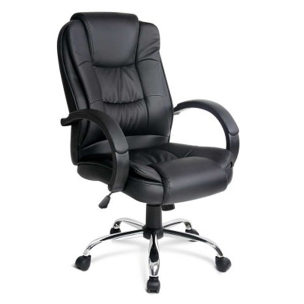 PU Executive Leather Office Chair - Black