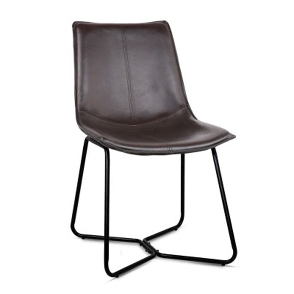 PU Leather Dining Chair (Set Of 2) - Walnut