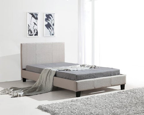 Palermo King Single Bed with Linen Fabric ING-XBFB-FAB-255