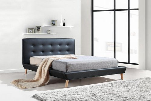 on sale 25d4c b12f8 Palermo PU Leather Bed Frame and Button Tufted Headboard