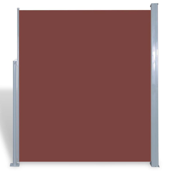 Patio Retractable Side Awning 160 x 300 Cm - Brown