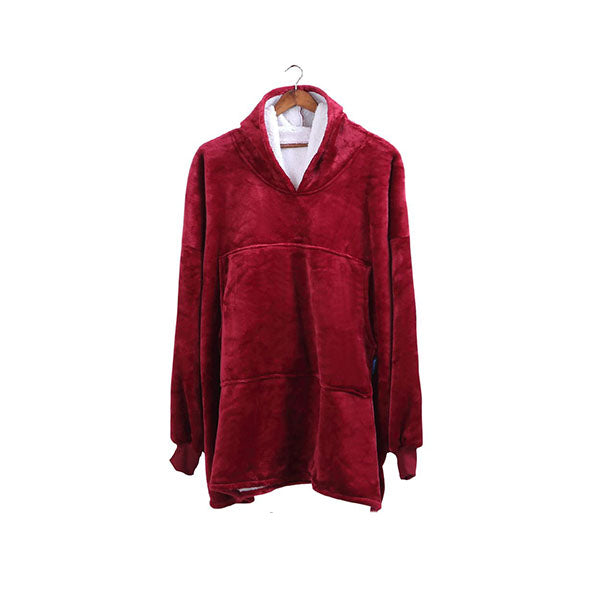 Plush Fleece Sherpa Hoodie Sweatshirt Huggle Blanket Pajamas