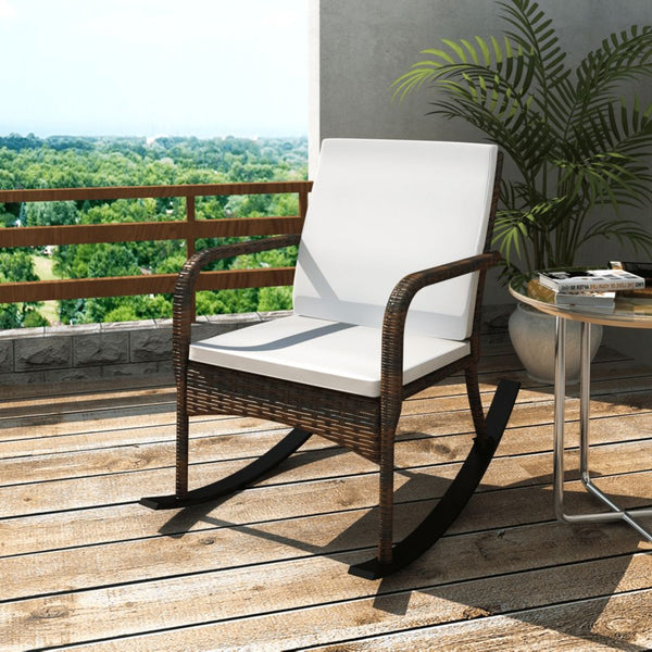 Poly Rattan Garden Rocking Chair