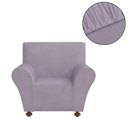 Polyester Jersey Stretch Couch Slipcover - Grey 131085