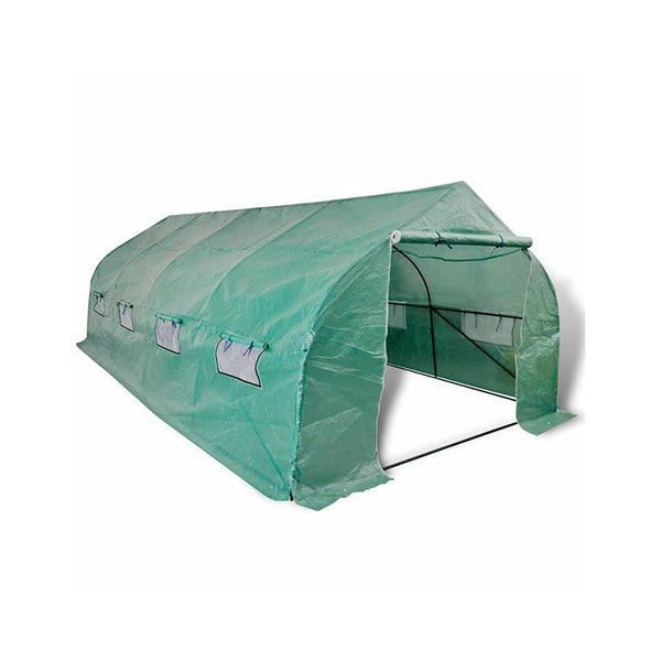 Portable Poly-tunnel Greenhouse Steel Frame Walk-in 18 M²