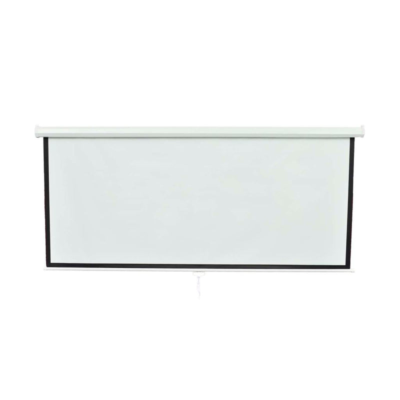 Projection Screen 160 x 90 Cm 16:9 Wall Ceiling Mount - White