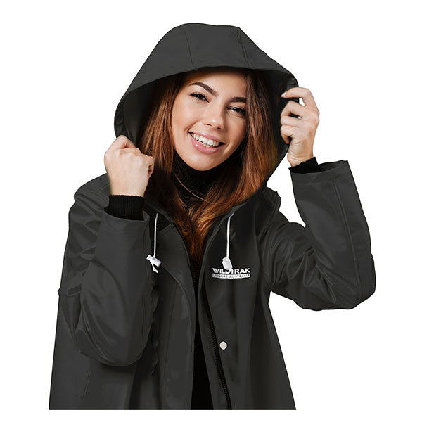 Raincoat Adult Female Black Medium
