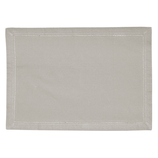 RANS Elegant Hemstitch Placemat - Set of 12