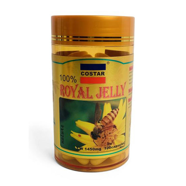100X 1450Mg Royal Bee Jelly Capsules Costar Pure Skin Supplement