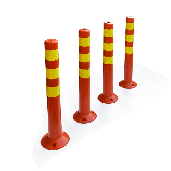 4 Plastic Traffic Bollard Post