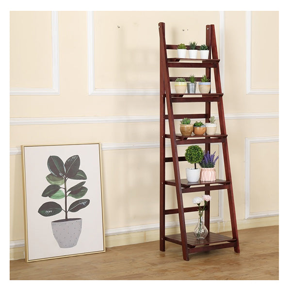 Randy & Travis 5 Tier Wooden Ladder Shelf Stand