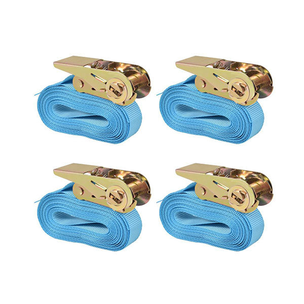 Ratchet Tie Down Straps 4 Pcs 6 M X 25 Mm Blue