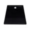 Rectangular Abs Shower Base Tray Black 70 X 90 Cm