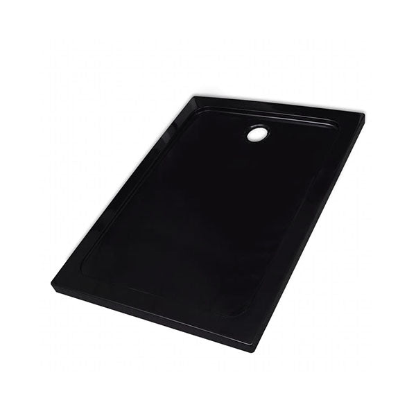Rectangular Abs Shower Base Tray Black 80 X 110 Cm