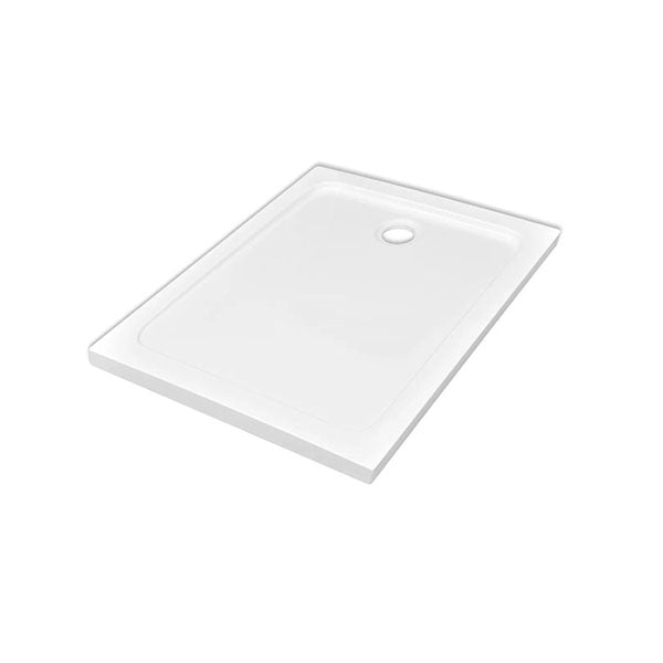 Rectangular Abs Shower Base Tray White 80 X 110 Cm