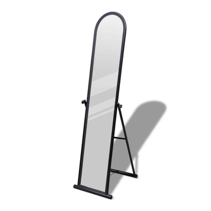 Rectangular Free Standing Floor Mirror Full Length - Black