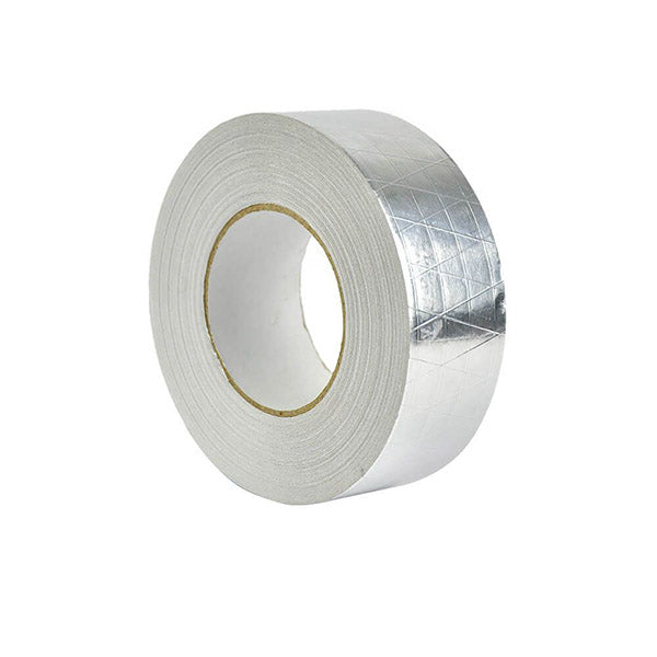 Reinforced Aluminium Foil Tape Insulation Heating Duct Silver