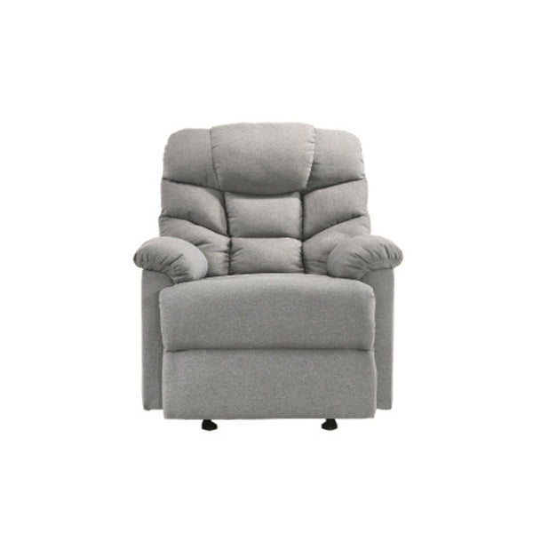 Rocking Recliner Chair Swing Glider Light Grey Fabric