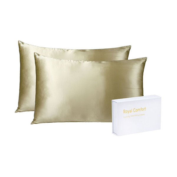 Royal Comfort Soft Silk Hypoallergenic Pillowcase Twin Pack
