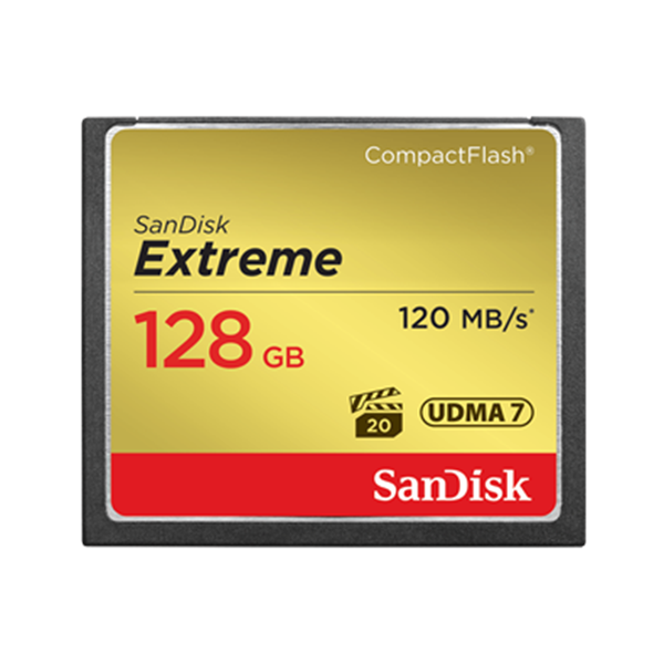 Sandisk Extreme Cf 128Gb Memory Card