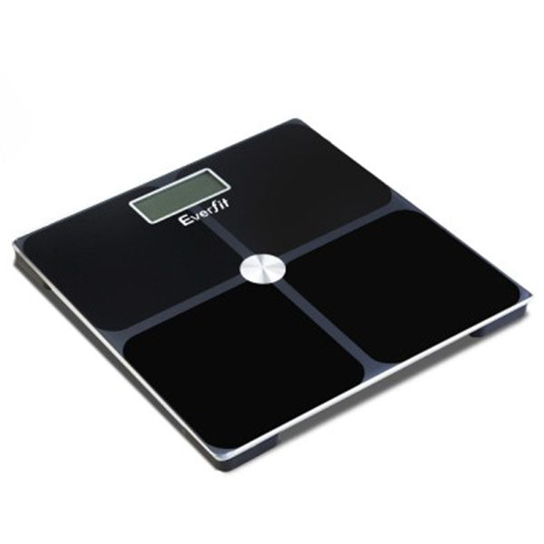 Electronic Digital Body Weight Scale Bathroom Scale Black