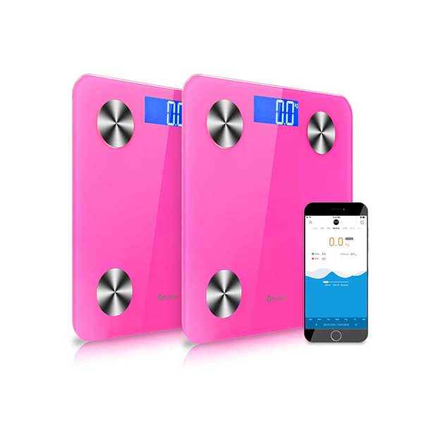 Soga 2X Wireless Digital Body Fat Scale Health Analyser Weight Pink