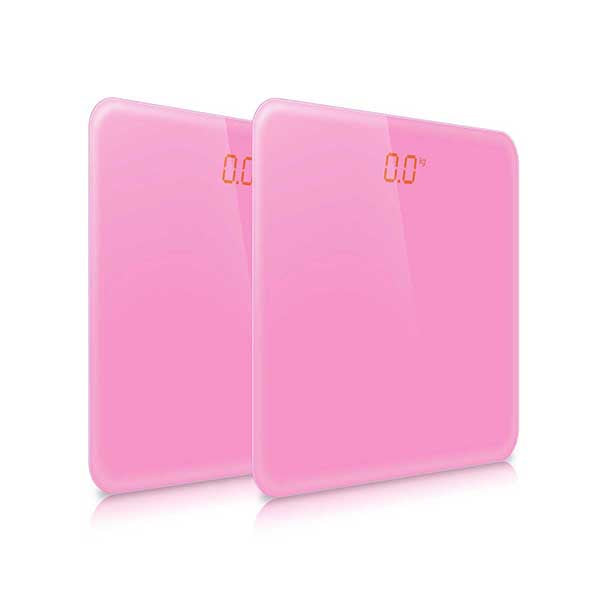 Soga 2X 180Kg Digital Fitness Body Glass Lcd Electronic Scale Pink